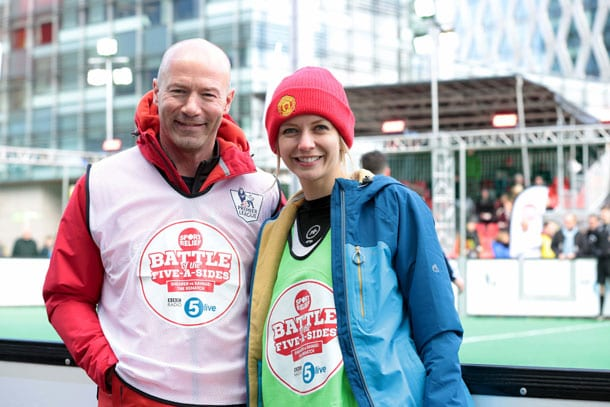 Shearer wins BBC 5 live 'Battle of the Five-A-Sides' for Sport Relief I Love Newcastle