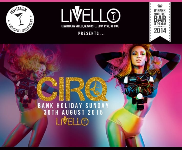 CIRQ returns to Bar Livello Newcastle I Love Newcastle