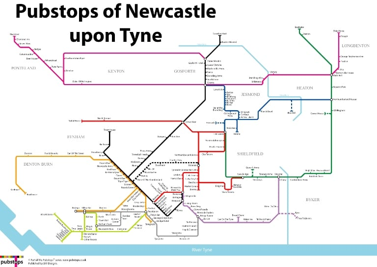 Newcastle's Greatest Ever pub And Bar Guide - Mapped Out I Love Newcastle