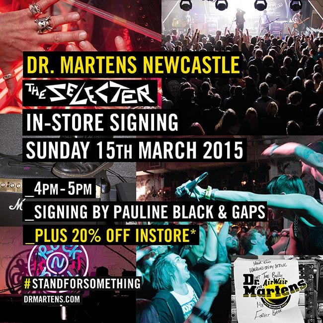 Dr. Martens in-store signing with the Selecter I Love Newcastle