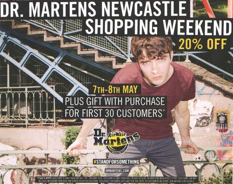 Dr. Martens Newcastle Shopping Weekend I Love Newcastle