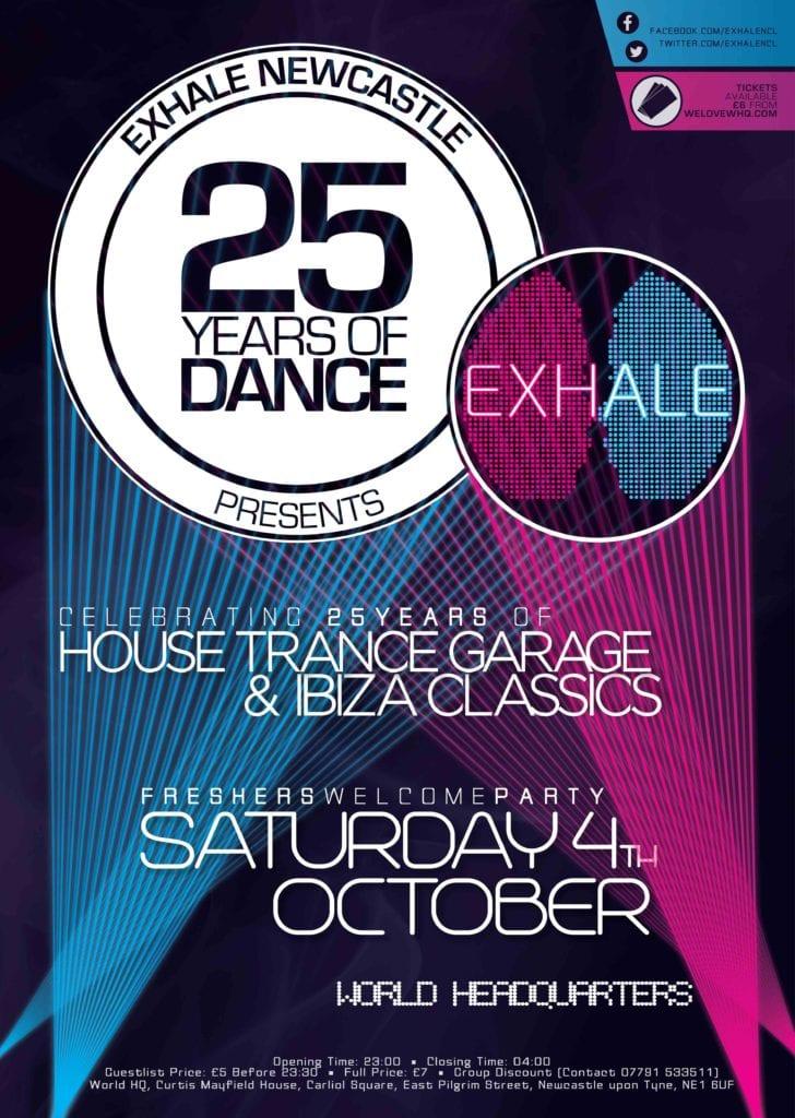 Exhale Newcastle presents 25 years of dance I Love Newcastle