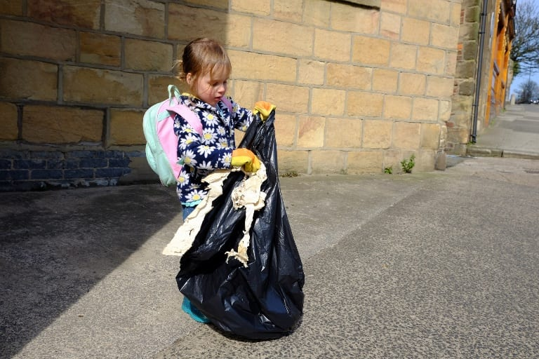 Three year old inspires huge clean up operation in North Tyneside I Love Newcastle