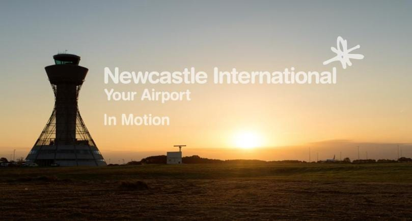 Amazing Newcastle Airport in motion video I Love Newcastle