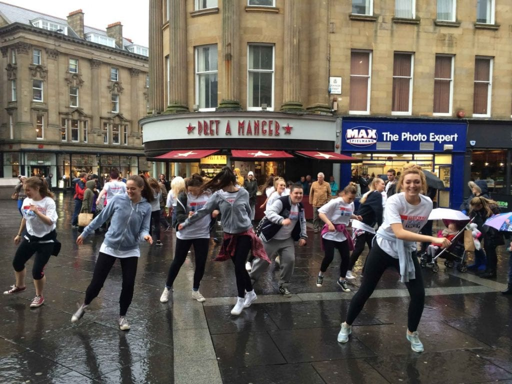 College flash mob for Cancer charity raises interest I Love Newcastle