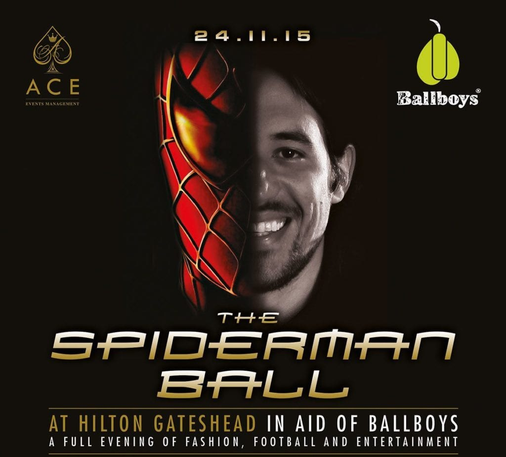 Star-Studded Spiderman Ball I Love Newcastle
