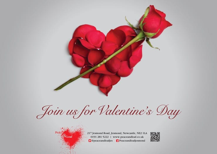 Celebrate Valentine's Day with Peace and Loaf Restaurant I Love Newcastle