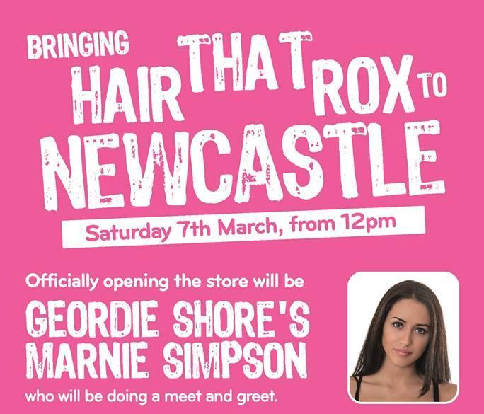 Geordie Shore's Marnie Simpson snips the Foxy ribbon... I Love Newcastle