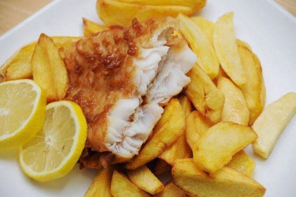 Fish and chips are out of fashion? Surely not Fred... I Love Newcastle