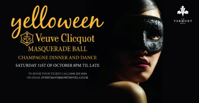 Yelloween Masquerade Ball at the Vermont I Love Newcastle