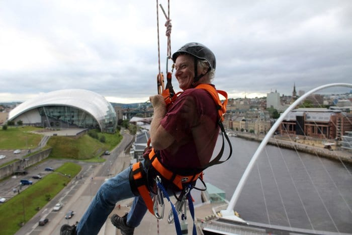 Drop On The Tyne - Lindisfarne Singer Abseils For Cancer Charity I Love Newcastle