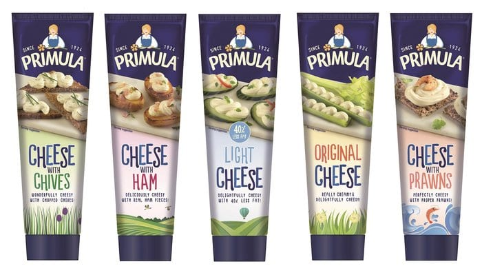 Geordie Firm - Primula Cheese Reveals New Look Tube Packaging I Love Newcastle