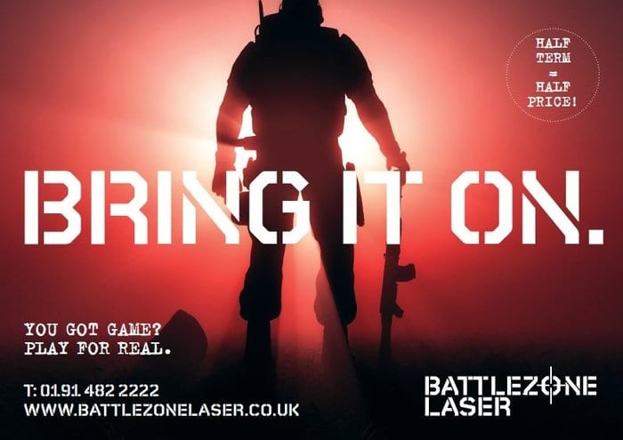 Half price games at BattleZone Laser I Love Newcastle