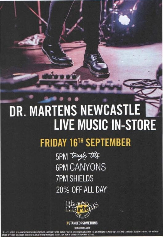 Three Local Bands Set To Rock Dr. Martens Newcastle With Intimate In-Store Gig I Love Newcastle