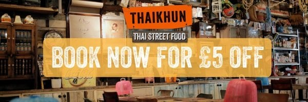 £5 Off Your Thaikhun Food Bill I Love Newcastle