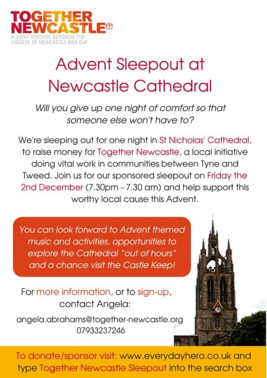 Could You Give Up A Night Of Comfort? I Love Newcastle