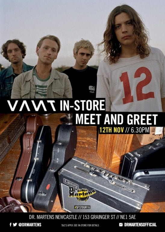 Dr. Martens Presents Free Meet & Greet With Vant In Newcastle I Love Newcastle