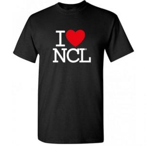I Love NCL T-Shirt Black I Love Newcastle