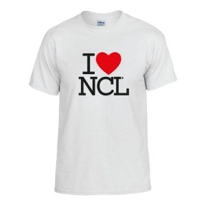I Love NCL T-Shirt White I Love Newcastle