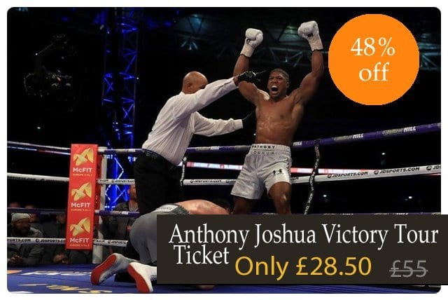 Anthony Joshua Victory Tour Ticket Offer I Love Newcastle