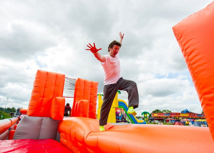 Longest Inflatable Obstacle Course Bounces Into Newcastle I Love Newcastle