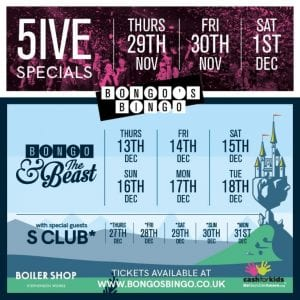 90's Pop stars set to join in the fun for Bongo's Bingo at the Boiler Shop this December I Love Newcastle