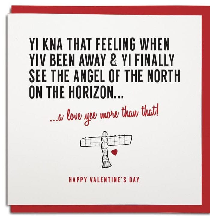 Are these the best Valentine's cards you could send a Geordie? I Love Newcastle