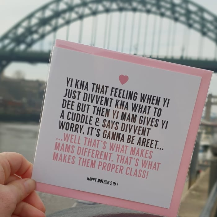 Everyone knows it's not your mum you need to be getting a card for next week I Love Newcastle
