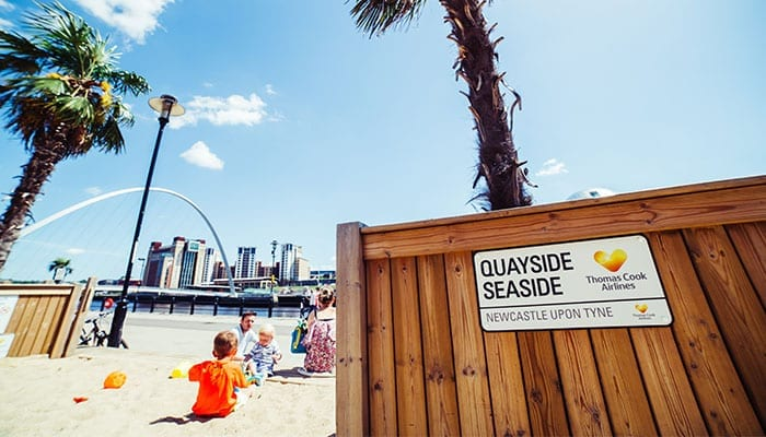 Quayside Seaside will bring the beach fun back to Newcastle in May I Love Newcastle